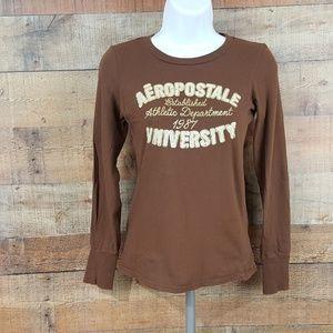 Aeropostale T-Shirt Junior Women's Size S Long Sle